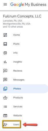 Fulcrum Concepts Google Listing Options Panel