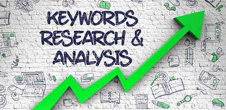 Graphic keywords research & analysis